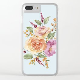 vintage ros bouquet Clear iPhone Case