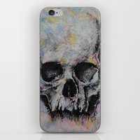 medieval iPhone & iPod Skins featuring Medieval Skull by Michael Creese