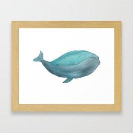 Just a friendly whale Framed Art Print