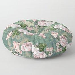 Shabby Rose Damask Pattern Floor Pillow