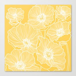 Sunshine Yellow Poppies Canvas Print