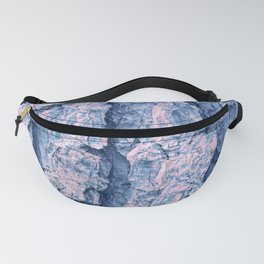 Soft blue and coral pine tree bark Fanny Pack