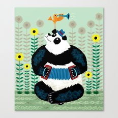 Panda Piazzolla and The Trumpet Bird Canvas Print