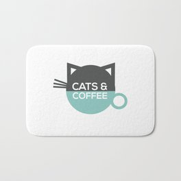 Cats and coffee Bath Mat