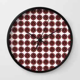 Fire Dept. Graphic quilt. Wall Clock