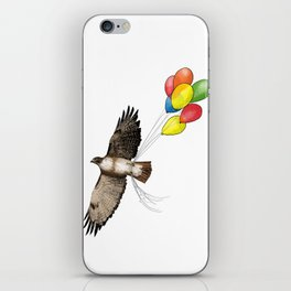 Hawk on his way to a party | Color iPhone Skin