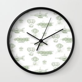 Airship Pattern Wall Clock