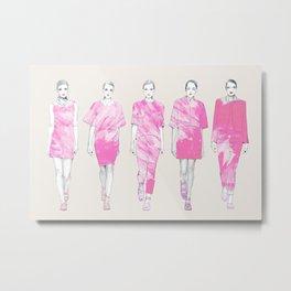 On Wednesdays we wear pink Metal Print