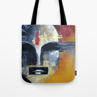 uncharted Tote Bags featuring Glimpses from the Terabytical Depths of an Uncharted Mind by Rochana Dubey