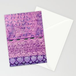 Purple Doodle Stationery Cards
