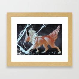 Jolteon Used Thunder Framed Art Print