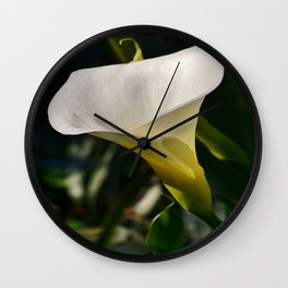 Calla Lili by the sea. Wall Clock