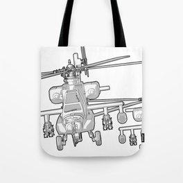 Apache's flying Toon Render Tote Bag