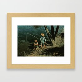 The Fishing Hole Framed Art Print
