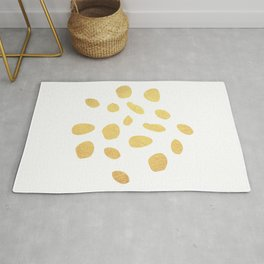 Gold dots Rug