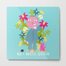 Get well soon - Postcard / Artprint Metal Print