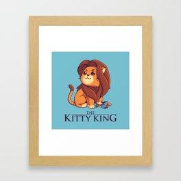 The Kitty King - Light Ver Framed Art Print