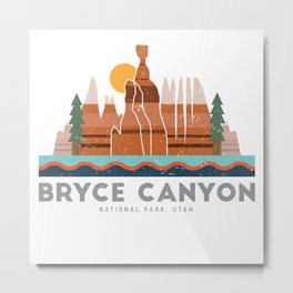 Bryce Canyon National Park Utah Graphic Metal Print