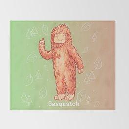 Sasquatch - Cute Cryptid Throw Blanket