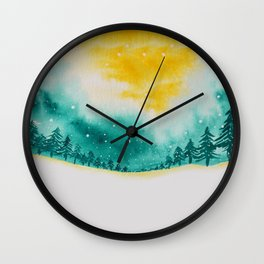 Magic of snow Wall Clock