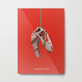 Dinosaure Skull Metal Print