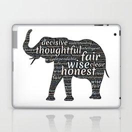 Elephant with words Laptop & iPad Skin