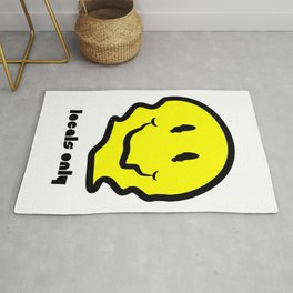 Locals Only Warped Smiley Rug