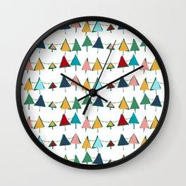 Cute Christmas tree colorful Wall Clock
