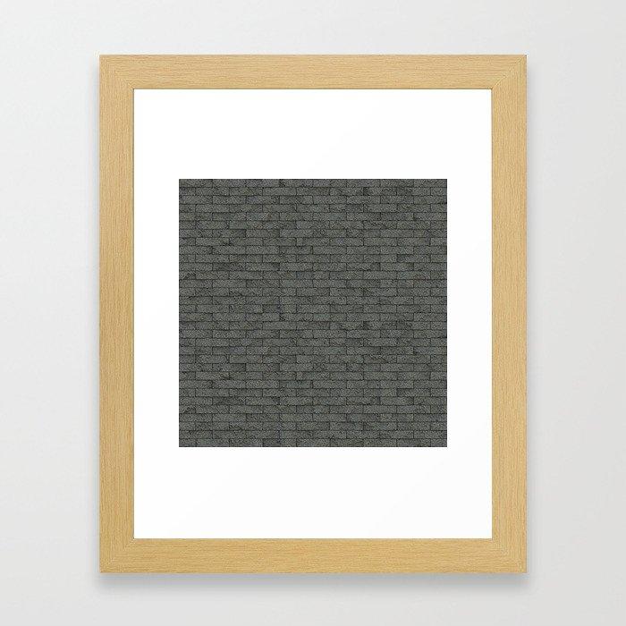 Grey Stone Bricks Wall Texture Framed Art Print