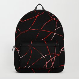 Abstract Threads Red Dapple Backpack