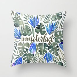Tropical Wanderlust – Periwinkle Throw Pillow