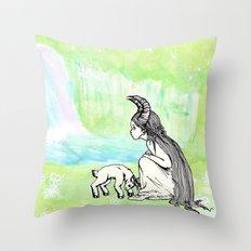 Welcome Home Capra Princess Throw Pillow