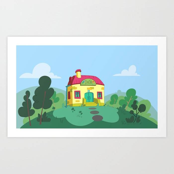 Dr Pussycat's office (Peepoodo) Art Print