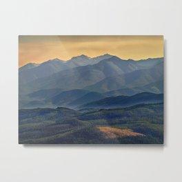 Evening in the Rockies - Montana Metal Print