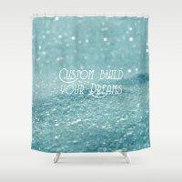 custom Shower Curtains featuring Custom Dreams by Alice Gosling