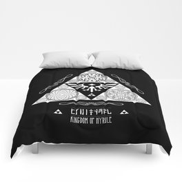 Legend of Zelda Kingdom of Hyrule Crest Letterpress Vector Art Comforters