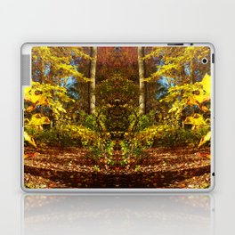 Fall's Golden Moments, an October vignette Laptop & iPad Skin