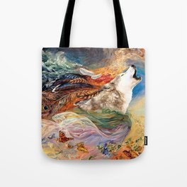 The spirit Wolf Abstract Tote Bag