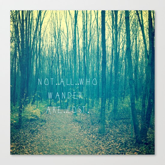 Wander in the Woods Canvas Print