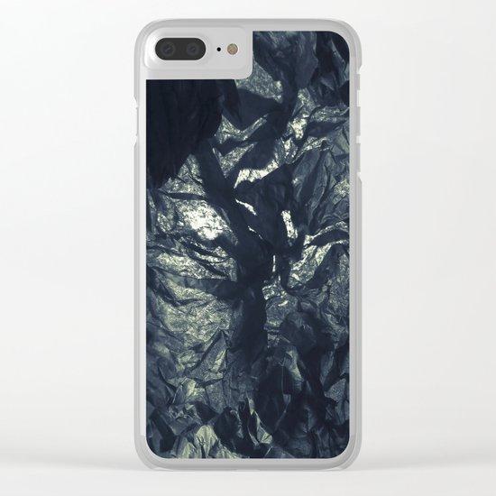 Black paper Clear iPhone Case