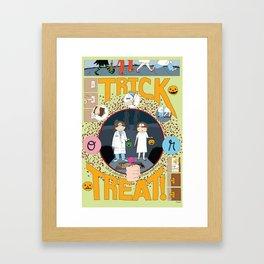Trick or Treat (print) Framed Art Print