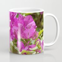 indonesia Mugs featuring Flower (Bali, Indonesia) by Christian Haberäcker - acryl abstract