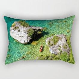 Kayaking In The Bruce Peninsula Rectangular Pillow