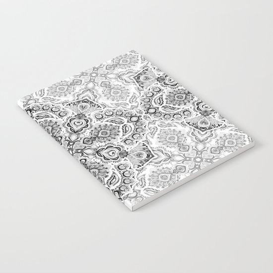 Pattern in Black & White Notebook