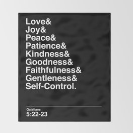 GALATIANS 5:22-23 Throw Blanket