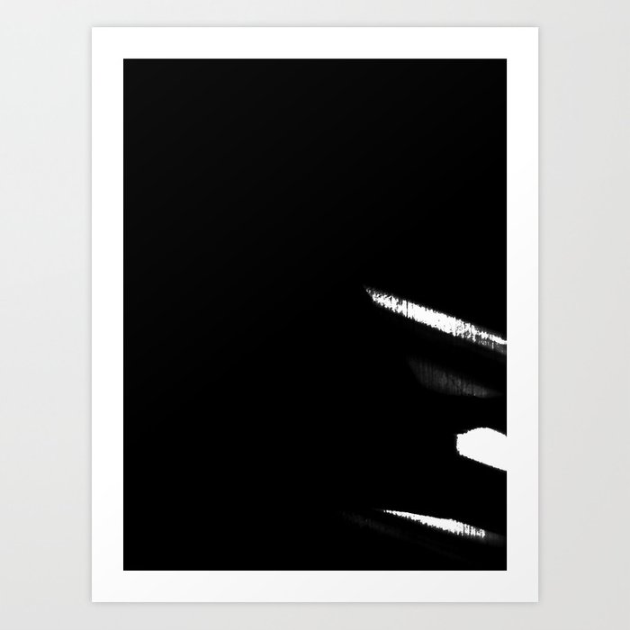 Black & White Minimal Stripes Art Print
