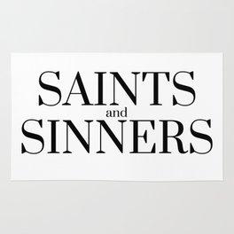 Saints and sinners Rug