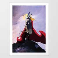 thor Art Prints featuring Thor  by Bern