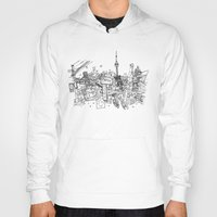 toronto Hoodies featuring Toronto! by David Bushell