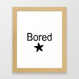 Bored Framed Art Print